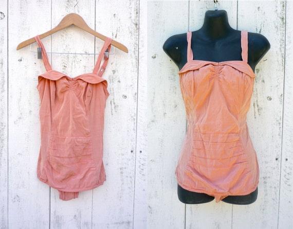 1950s swimsuit / vintage 50s bathing suit / Sea Nymph maillot