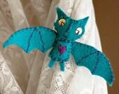 Vampire Bat Brooch - HollisR - hand sewn