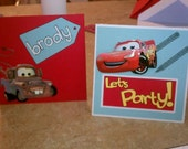 Cars Birthday Card - Handmade and Personalized