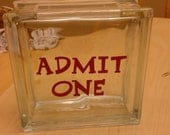 Admit One Ticket Display Box