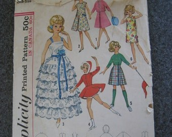 Vintage 1960s Simplicity 5214 Ideal Tammy Doll Wardrobe