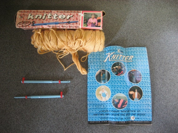 Vintage K-Tel Knitter Knits and Crochets with One Needle as Advertised on TV