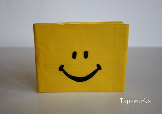 Duct Tape Wallet- Smiley Face