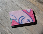 Cute fish design wallet made from recycled grain bag