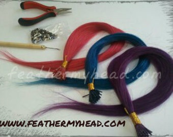Pink, Blue, Or Purple Hair Extension DIY Kit, Add Some Color TO YOur Summer