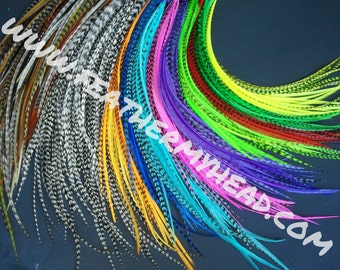500 Wholesale Feather Hair Extensions, Premium Extra Long Feathers