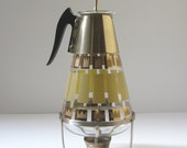 Vintage Coffee Carafe and Warmer, Mid Century Modern Fred Press Decanter