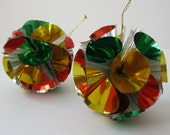 Vintage Foil Ball Ornaments, Retro Kitsch Christmas Decor
