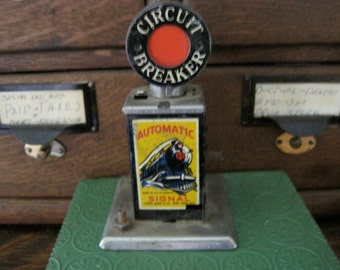 Vintage 50's Toy Train Circuit Breaker by Louis Marx &  Co.