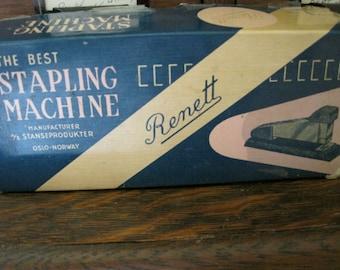 Vintage Renett Stapler in Box