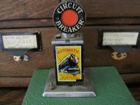 Vintage 50's Toy Train Circuit Breaker by Louis Marx &  Co.