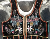 Beautiful Vintage Traditional Polish Decorated/Emboidered Vest 1960's-70's