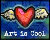 Art is Cool - 8x10 Winged Heart Print -