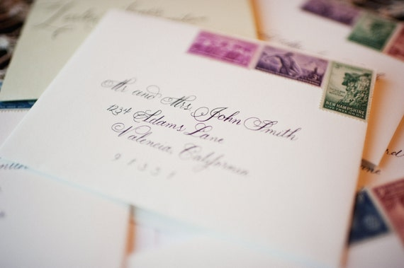 Flourished Copperplate Script, Calligraphy Envelope Addressing