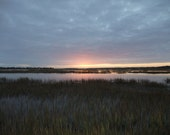 Sunset Marshes Metallic Photo Coastal 5 x 7 - Lehns