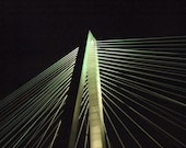 Ravenel Bridge Metallic Photo Night Cruise 5 x 7 - Lehns