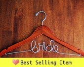 CHERRY finish - Personalized Wedding Hanger Bridal Dress Hanger