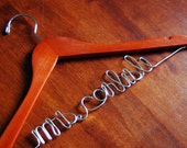 CHERRY finish Personalized Hanger - custom