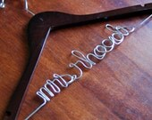 Personalized Custom Wedding Hanger - WALNUT finish -  Bridal Dress Hanger