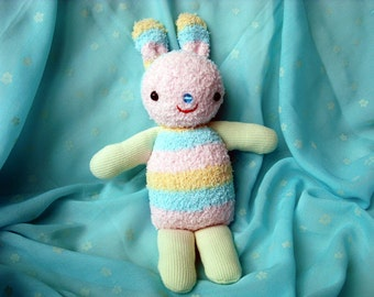 Bunny, Toy, Soft Rabbit Doll - Handmade Sock Toy or Easter Decoration, Realy to ship