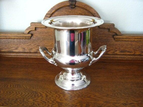 Champagne Bucket-Trophy-Vase SilverPlate - Treasury Item