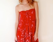 Vintage Red Upcycled Dress