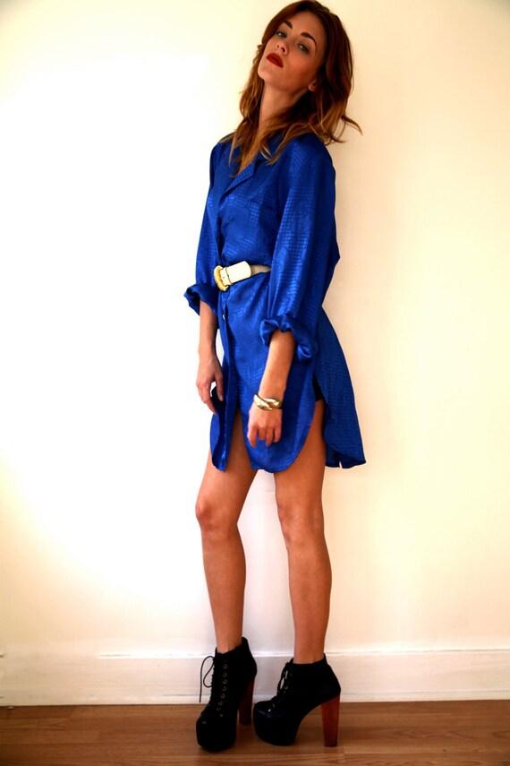 SALE 20% OFF Silky Royal Blue Dress