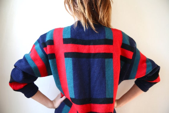 Oversized Wool Plaid Sweater