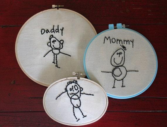 Children's Artwork Embroidery