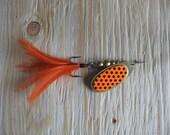 Spinner - Handmade Fishing Lure - Over 1/4oz - Brilliant Orange
