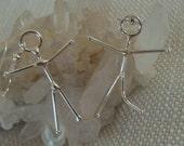 Sterling Silver  or Copper People Earrings