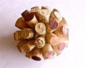 Decorative Cork Ball Centerpiece / Kissing Ball / Ornament - Medium