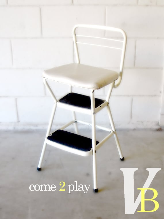 10 OFF Sale Vintage White Cosco Step Stool And Chair By