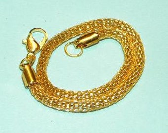 """Bracelet European Style 7 1/2"""" Mesh Gold Tone Bracelet Charm Bracelet Fits all European Charm Beads Gold Jewelry Supply Free Shipping in USA"""