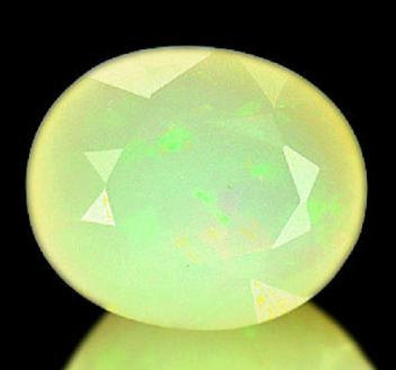 Genuine Mexican Yellow Opal 2.4ct Flashy Untreated 11.82x9.89mm Oval Faceted Loose Gemstone  OP2