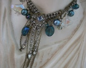 reserved for willow bloom The Kaleidoscope  ...Vintage Rhinestone Assemblage Necklace