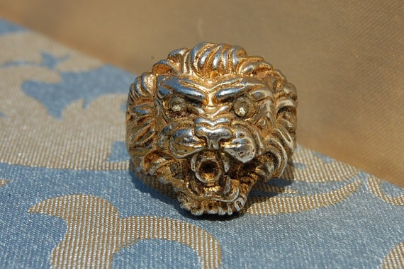 Vintage 1930's Roaring Lion Ring - Not So Cowardly Lion