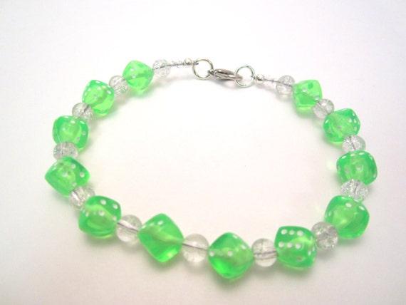 bright green dice