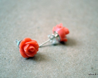 Little Rose Earring Studs - 9 Colors Available