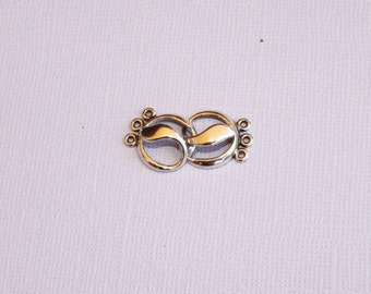 Sterling Hook and Eye Clasp