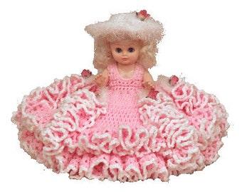"PDF Crochet Bed Doll Pattern - Crochet 13"" Bed Doll Pattern Mary Lu (7160) Td creations"