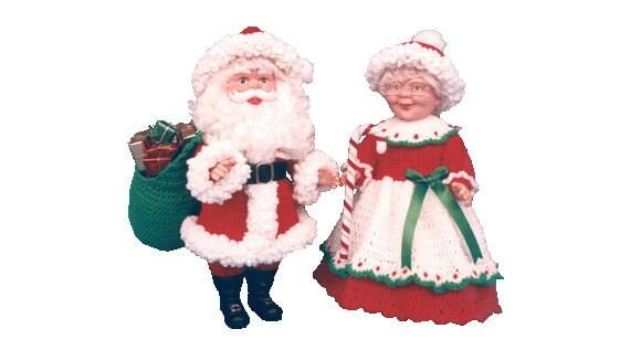 Crochet santa claus patterns crochet mr and mrs santa claus 836
