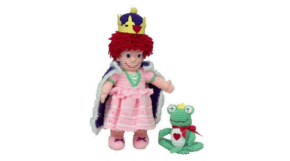 "PDF Amigurumi Doll - Crochet Doll Pattern - 18"" Remie Doll And 7"" Hopper The Frog - PDF Pattern (7403) Td Creations"