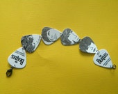 Beatles Sketch Guitar Pick Bracelet