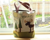 Personalized Moose Tote Bag