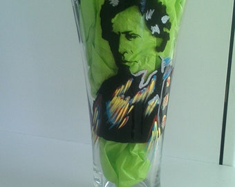 bruce springsteen the boss hand painted glass cups fathers day wedding