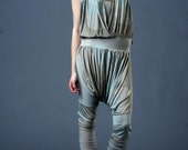 NEW summer/ spring collection. mixed neutral color JERSEY JUMPSUIT urban weekend style