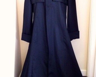 NEW Black Cotton Drill Duster Coat Matrix/Neo/Morpheus Style Costume/Overcoat