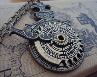Nocturlabe Necklace - Nocturnal Timepiece / Nautical Sundial - Fully Functioning