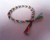 Multicoloured 'Fish Rope' Friendship Bracelet